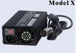 160W <br> 12V 8A, 24V 5A, 36V 4A, 48V 3A <br> Model X <br> Lithium or Lead-Acid Intelligent Battery Charger